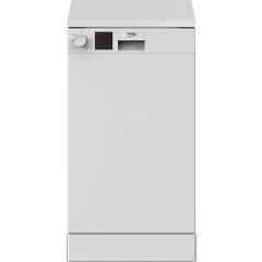 Beko DVS05C20W Slimline 10 Place Settings White Dishwasher - A++ Energy Rated
