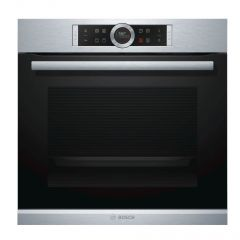 Bosch HBG633BS1B Built In 4D Hot Air Single Electric Brushed Steel Oven