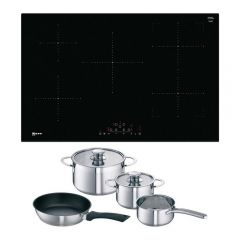 Neff T48FD23X2KIT 80Cm Frameless Induction Hob With Combi Zone